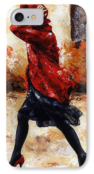 Lady In Red 28 Phone Case by Emerico Imre Toth