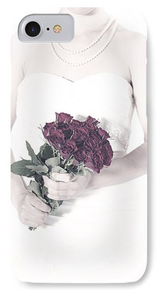 Lady With Roses Phone Case by Joana Kruse