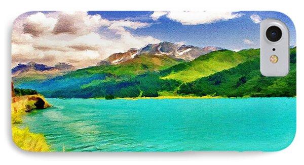 Lake Sils Phone Case by Jeff Kolker