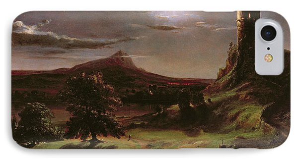Landscape - Moonlight Phone Case by Thomas Cole