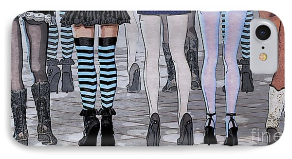 Legs Phone Case by Jutta Maria Pusl