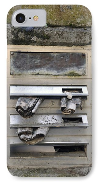 Letterbox With Old Newspapers IPhone Case by Matthias Hauser