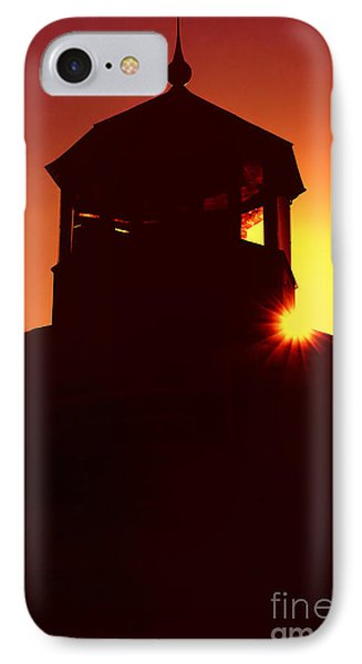Lighthouse Sunset IPhone Case by Joann Vitali