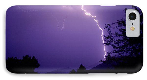 Lightning Over The Rogue Valley Phone Case by Mick Anderson