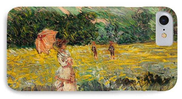 Limetz Meadow Phone Case by Claude Monet