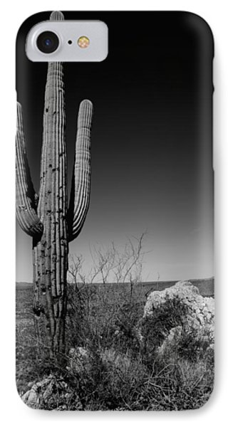 Lone Saguaro IPhone Case by Chad Dutson