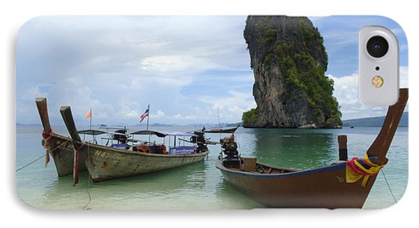 Long Tail Boats Thailand Phone Case by Bob Christopher