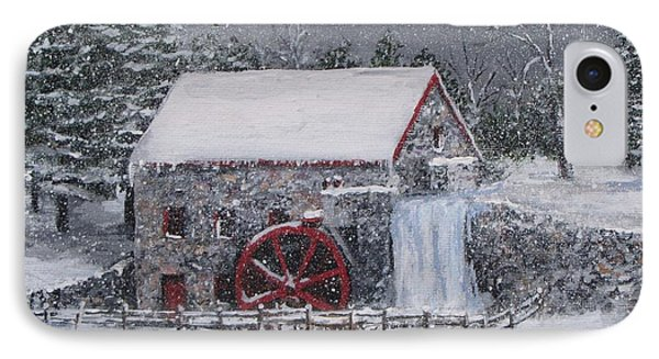 Longfellow's Grist Mill In Winter IPhone Case by Jack Skinner