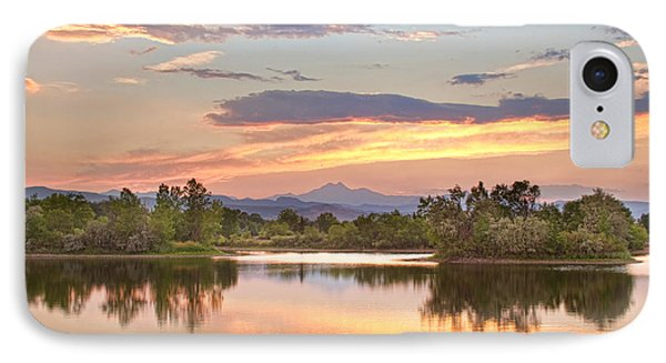 Longs Peak Evening Sunset View Phone Case by James BO  Insogna