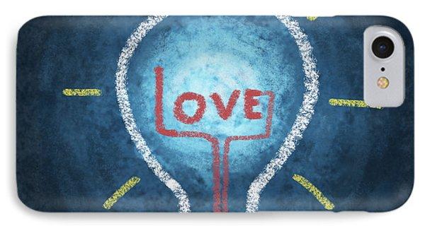 Love Word In Light Bulb Phone Case by Setsiri Silapasuwanchai