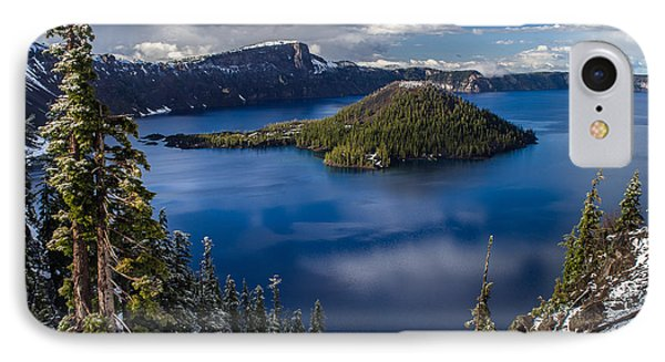 Luminous Crater Lake Phone Case by Greg Nyquist