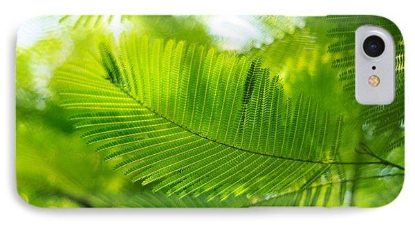 Luscious Green Light. Acacia Tree Phone Case by Jenny Rainbow