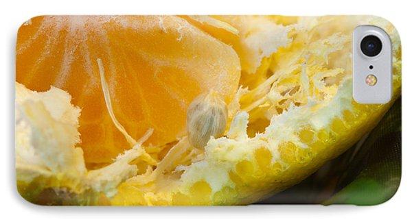 Macro Photo Of Orange Peel And Pips And Main Fleshy Part Phone Case by Ashish Agarwal