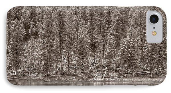 Madison River Yellowstone Bw Phone Case by Steve Gadomski