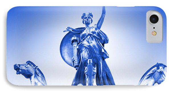 Maine Monument  In Blue Phone Case by Mike McGlothlen