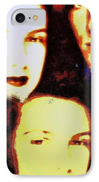 Many Faces Of Betty And Allen Phone Case by Marian Hebert