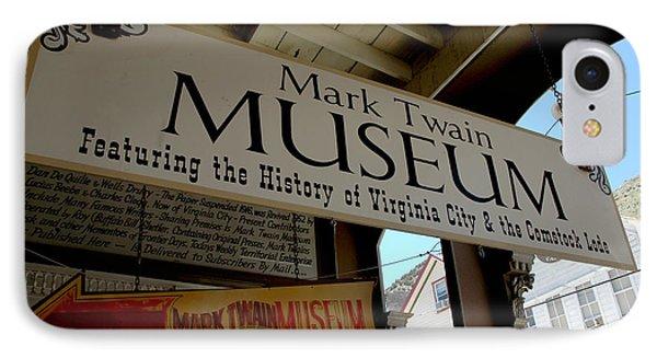 Mark Twian Museum Virginina City Nv Phone Case by LeeAnn McLaneGoetz McLaneGoetzStudioLLCcom