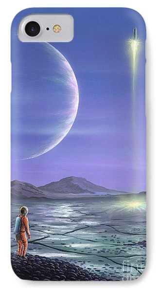 Marooned Astronaut Phone Case by Richard Bizley and Photo Researchers