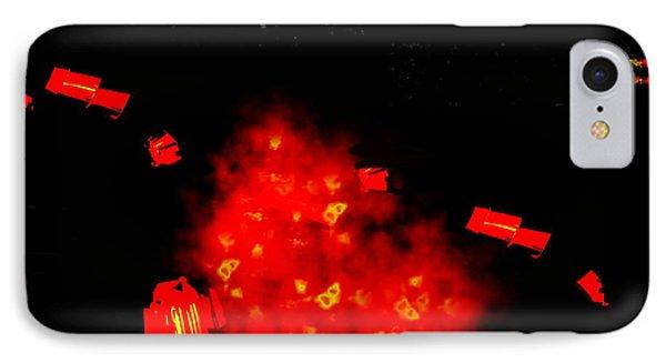 Mars Space Junk Mishap Phone Case by Steamy Raimon