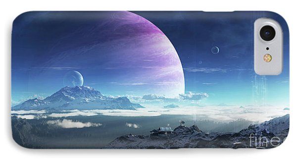 Massive Lei Gong Rises In The Distance IPhone Case by Brian Christensen