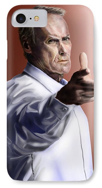 Men Must Know Their Limitations-clint Eastwood Phone Case by Reggie Duffie