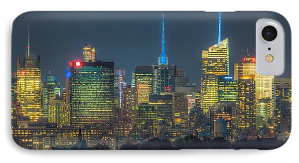 Mid-town Manhattan Twilight I Phone Case by Clarence Holmes