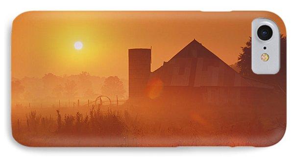 Midwestern Rural Sunrise - Fs000405 Phone Case by Daniel Dempster