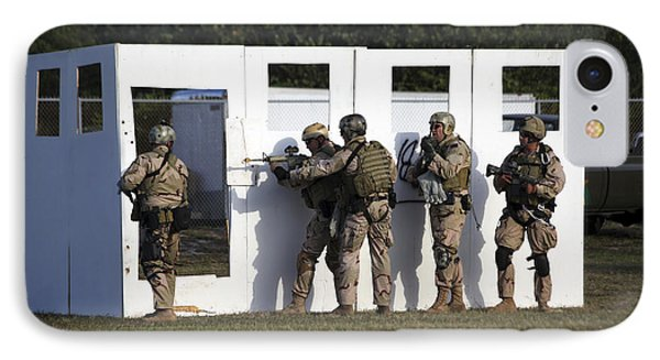 Military Reserve Members Prepare IPhone Case by Michael Wood