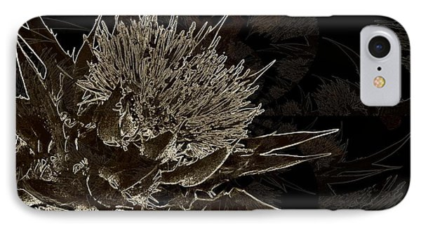 Milk Thistle In Sepia Phone Case by Shirley Sirois