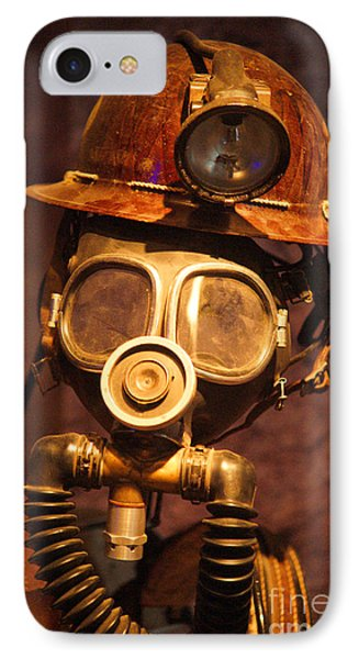 Mining Man IPhone Case by Randy Harris