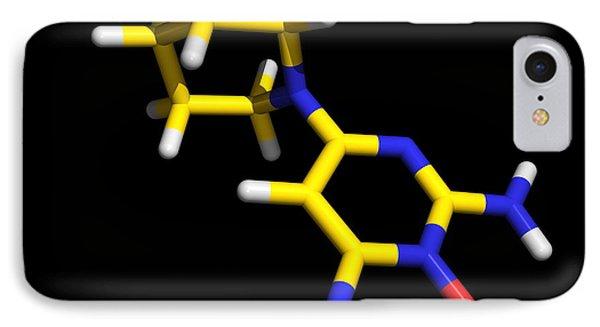 Minoxidil Molecule, Hair Growth Drug Phone Case by Dr Tim Evans