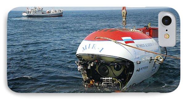 Mir-1 Submersible At Lake Baikal IPhone Case by Ria Novosti