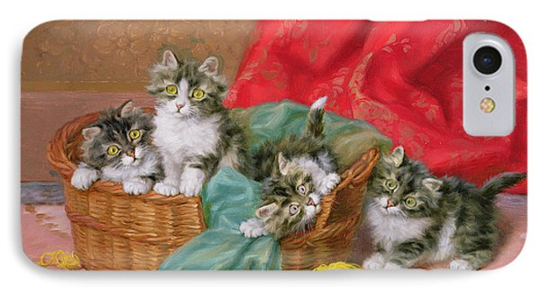Mischievous Kittens Phone Case by Daniel Merlin