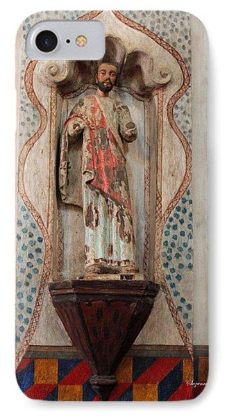 Mission San Xavier Del Bac - Interior Sculpture Phone Case by Suzanne Gaff