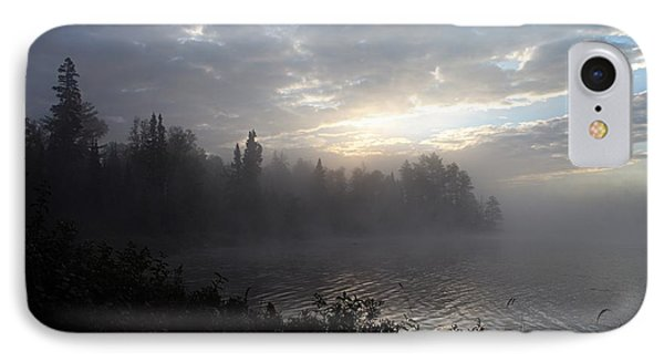 Misty Dawn On Boot Lake Phone Case by Larry Ricker