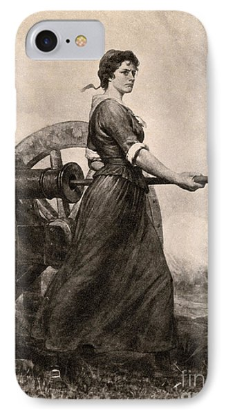 Molly Pitcher At The Battle IPhone Case by Photo Researchers