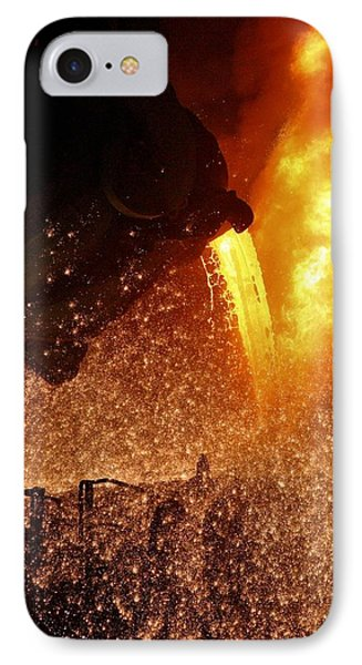 Molten Metal Being Poured From A Vat Phone Case by Ria Novosti