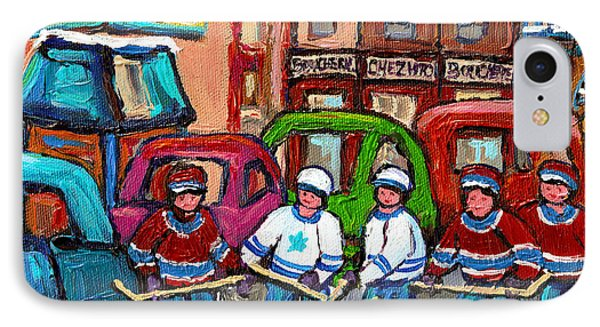 Montreal Bagels And Hockey Phone Case by Carole Spandau