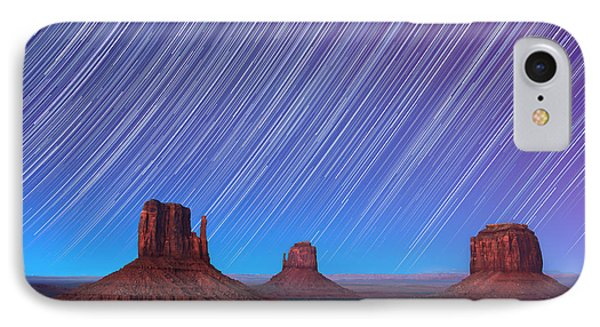 Monument Valley Star Trails  Phone Case by Jane Rix