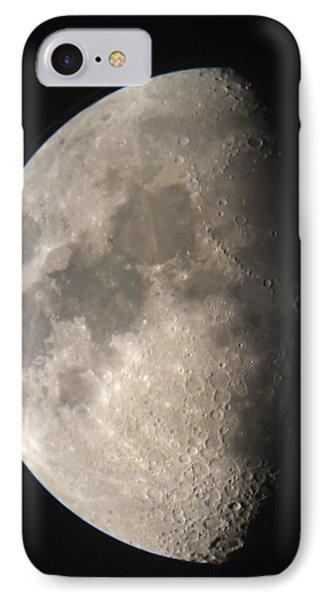 Moon Against The Black Sky Phone Case by John Short