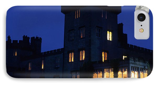 Moon Over Dromoland Castle  IPhone Case by Carl Purcell