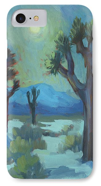 Moon Shadows At Joshua IPhone Case by Diane McClary