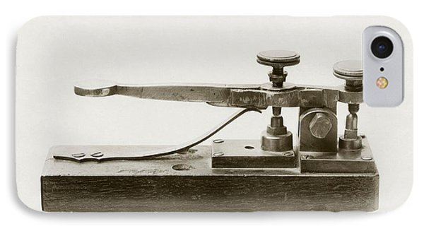 Morse Telegraph Key IPhone Case by Miriam And Ira D. Wallach Division Of Art, Prints And Photographsnew York Public Library
