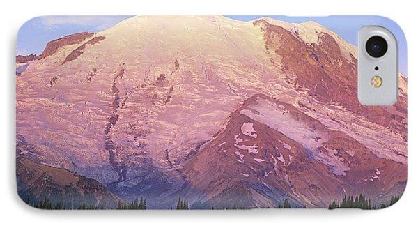 Mount Rainier At Sunrise Mount Rainier Phone Case by Tim Fitzharris