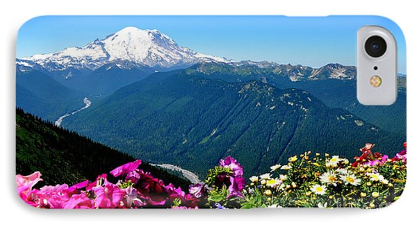 Mount Rainier Seen From Crystal Mountain Summit Phone Case by Tanya  Searcy