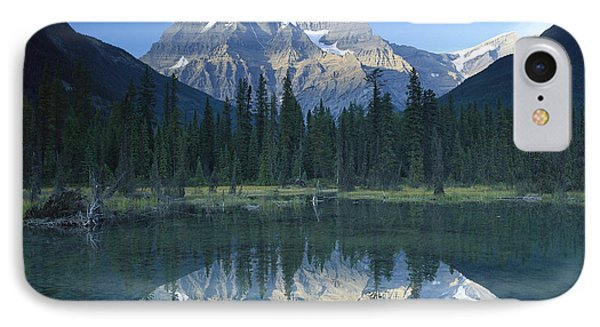 Mt Robson Highest Peak In The Canadian Phone Case by Tim Fitzharris