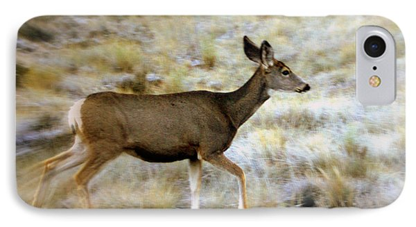 Mule Deer On The Move Phone Case by Marty Koch