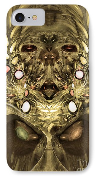 Mummy - Abstract Digital Art IPhone Case by Sipo Liimatainen