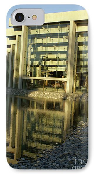 Museum Of Anthropology Reflection Vancouver Canada Phone Case by John  Mitchell