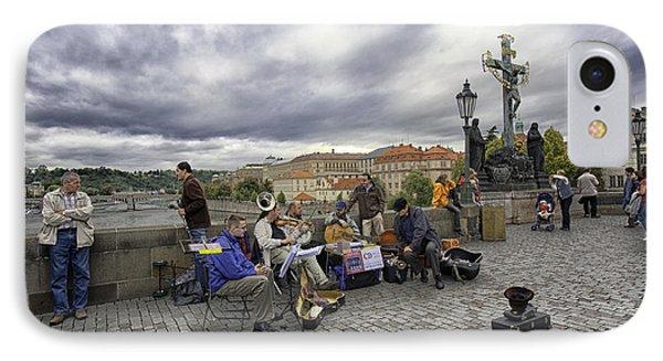 Musicians On The Charles Bridge - Prague Phone Case by Madeline Ellis